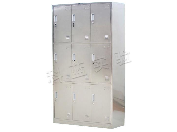 不锈钢9门更衣柜(带锁)